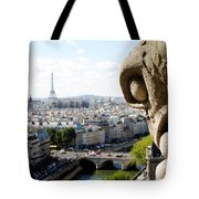 Notre Dame View From The Roof Tote Bag