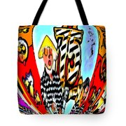Notre Debut Abstract Tote Bag