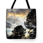 Nov 22 2011 Small Cross In Clouds Tote Bag