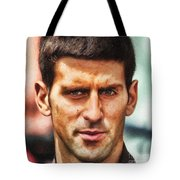 Novak Djokovic Tote Bag by Nishanth Gopinathan
