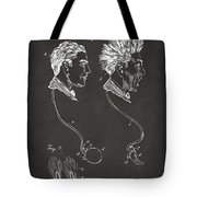 Novelty Wig Patent Artwork Gray Tote Bag