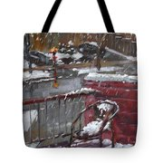 First Snowfall Nov 17 2014 Tote Bag