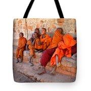 Novice Buddhist Monks Tote Bag