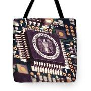 Nsa Computer Chip Tote Bag
