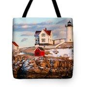 Nubble Light York Maine Tote Bag