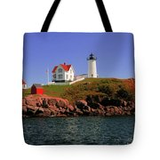 Nubble Lighthouse-cape Neddick Tote Bag