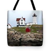 Nubble Lighthouse Cape Neddick Maine 4 Tote Bag