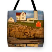 Nubble Lighthouse No 1 Tote Bag