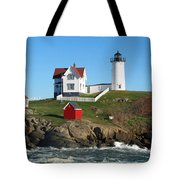 Nubble Lighthouse One Tote Bag