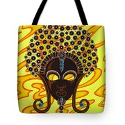 Nubian Modern Afro Mask Tote Bag