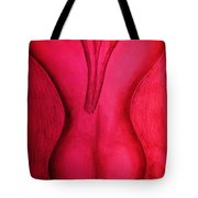 Nude Back Red Tote Bag