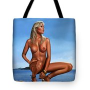 Nude Blond Beauty Tote Bag