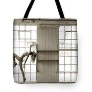 Nude Collar And Window Tote Bag