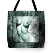 Nude Details - Digital Color Version Frame Aqua Black Tote Bag