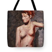 Nude French Woman Tote Bag by Shelley Irish