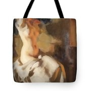Nude In Fire Light Tote Bag