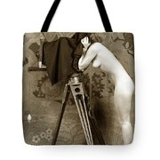 Nude In High Heel Shoes With Studio Camera Circa 1920 Tote Bag