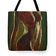 Nude In The Green Tote Bag