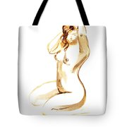 Nude Model Gesture I Tote Bag