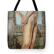 Nude On A Rampart Tote Bag