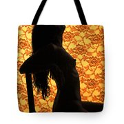 Nude On Chair Color Tote Bag