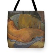 Nude On Chaise Longue Tote Bag