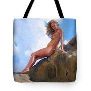 Nude On The Rocks Tote Bag