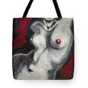 Nude Torso And Red Lips Tote Bag