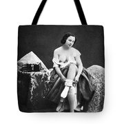 Nude Undressing, C1850 Tote Bag