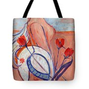 Nude With A White Hat Tote Bag
