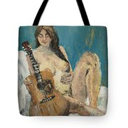 Nude With Guitar Tote Bag