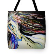Nuella Horse With The White Shoulder Tote Bag