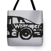 Number 3 Car Wrangler Tote Bag