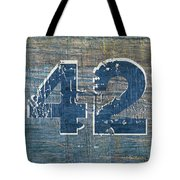 Number 42 Tote Bag by Michelle Calkins