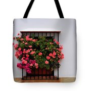 Number 9 - Geraniums In The Window Tote Bag
