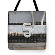 Number Five Tote Bag
