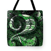 Number Two In Green  Tote Bag
