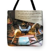 Numbers 6 24-26 The Lord Bless Thee And Keep Thee Tote Bag