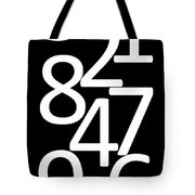 Numbers In Black And White Tote Bag
