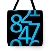 Numbers In Blue And Black Tote Bag