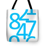 Numbers In Blue Tote Bag