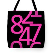 Numbers In Pink And Black Tote Bag