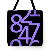 Numbers In Purple And Black Tote Bag
