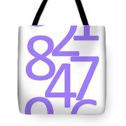 Numbers In Purple Tote Bag