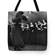Nun Swivels Hula Hoop On Hips Tote Bag