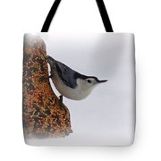 Nuthatch Bell Tote Bag