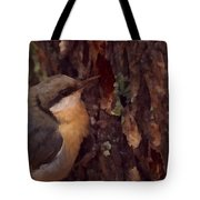 Nuthatch Up Close Tote Bag