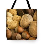 Nuts On Burlap Tote Bag