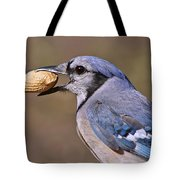 Nutty Bluejay Tote Bag