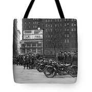 Ny Motorcycle Police Tote Bag